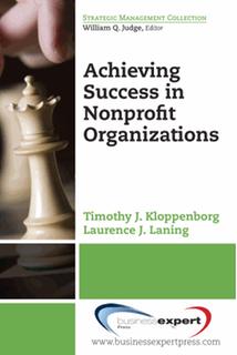 Book cover: Achieving Success in Nonprofit Organizations